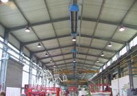 Отопление цеха газовыми обогревателями