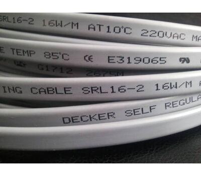 Саморегулирующийся греющий кабель Decker SRL 16-2, 16 Вт/м