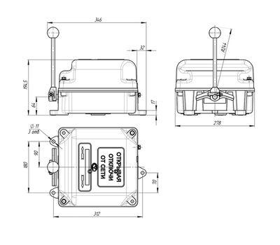 Командоконтроллер крановый ККТ-62А