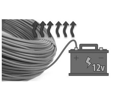 Низковольтный греющий кабель 17W-12CF (12 Вольт)