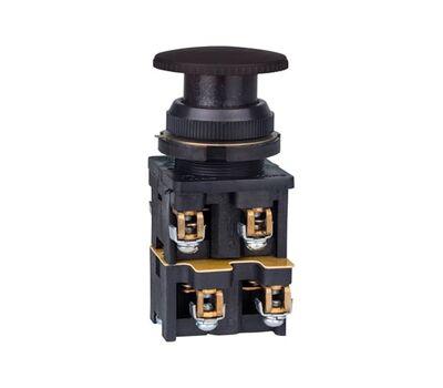Кнопка КЕ-022 исполнение 3(2з+2р) черная грибовидная