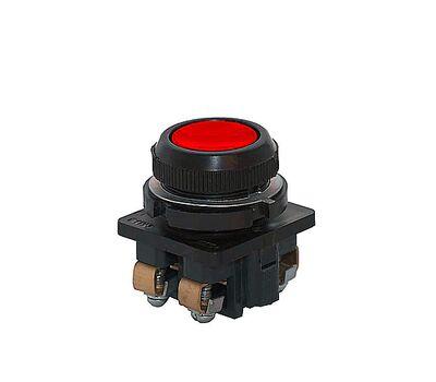 Кнопка КЕ-182/2, красный, 3з+1р, цилиндр, IP54,   10А, 660В