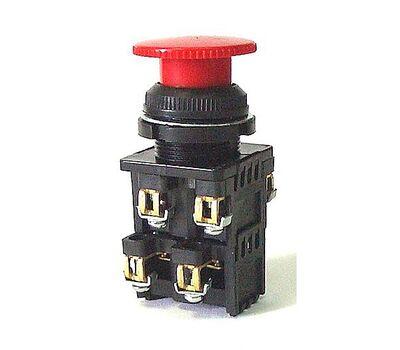Выключатель нажимной КЕ-022 исполнение 3(2но+2нз) красный гриб (КЕ-022 исп3(2но+2нз)кр гр)