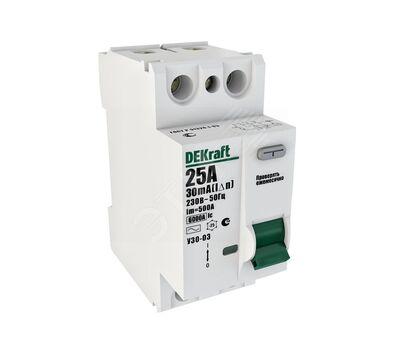 Выключатель дифференциальный 2P 25А 30мА AC УЗО-03 6кА