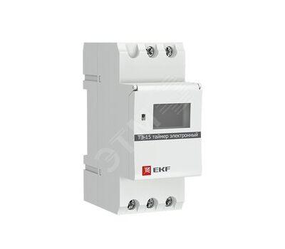 Таймер электронный ТЭ-15 EKF, 16А 230V на DIN-рейку