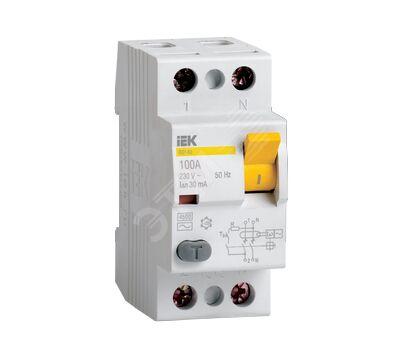 Выключатель дифференциальный 2п 63А 100мА ВД1-63 АС