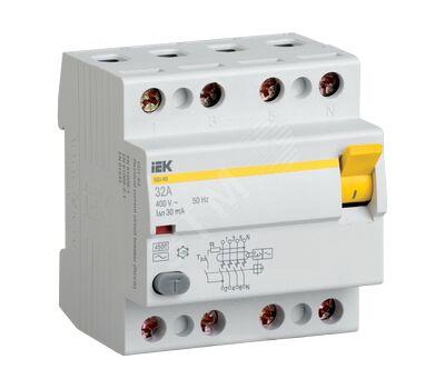 Выключатель дифференциальный 4п 40A 30мA ВД1-63 АС